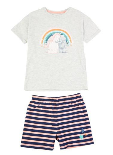 Marks & Spencer Tatty Teddy Kısa Kollu Pijama Takımı Gri